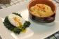 humus con uovo in camicia