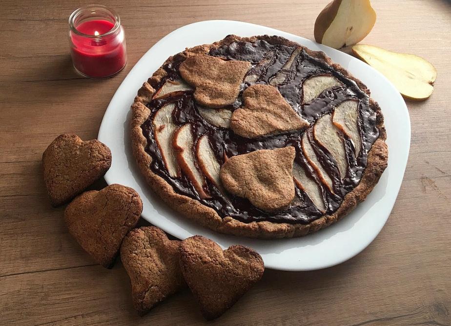Crostata gluten free pere ecioccolato