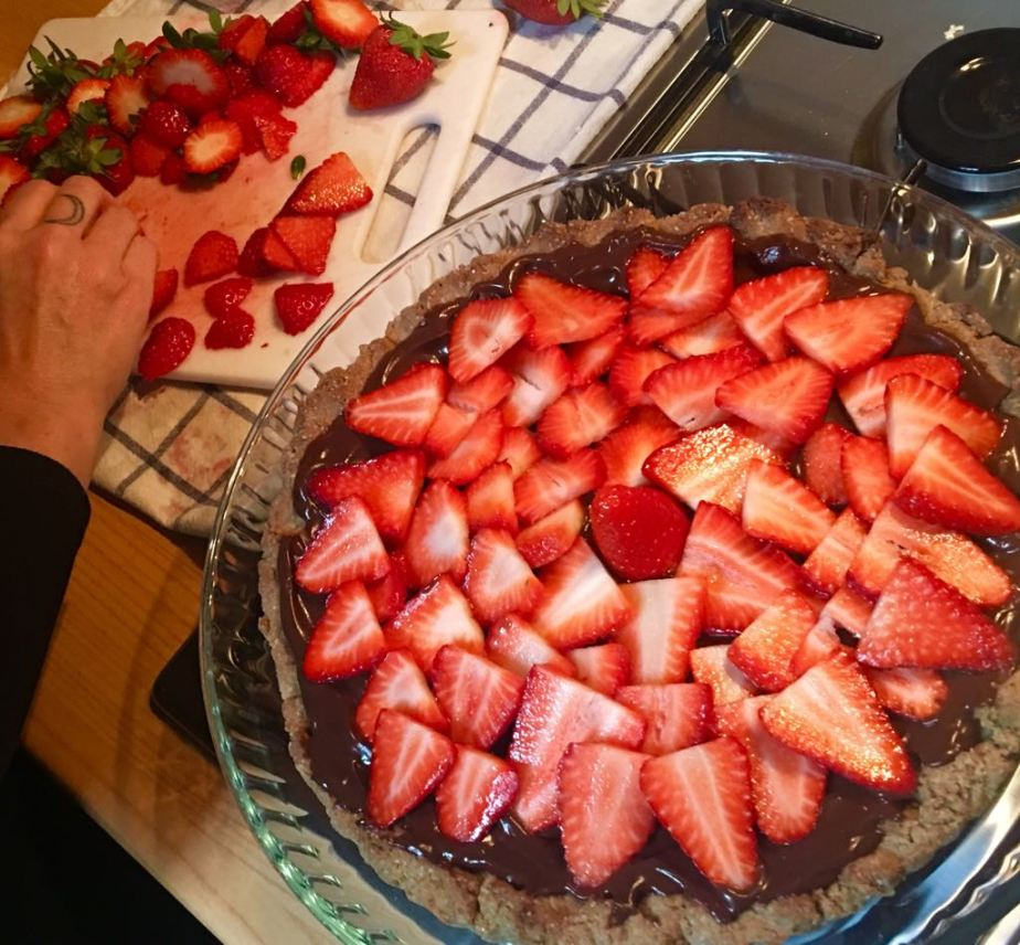 Crostata di fragole ecioccolato