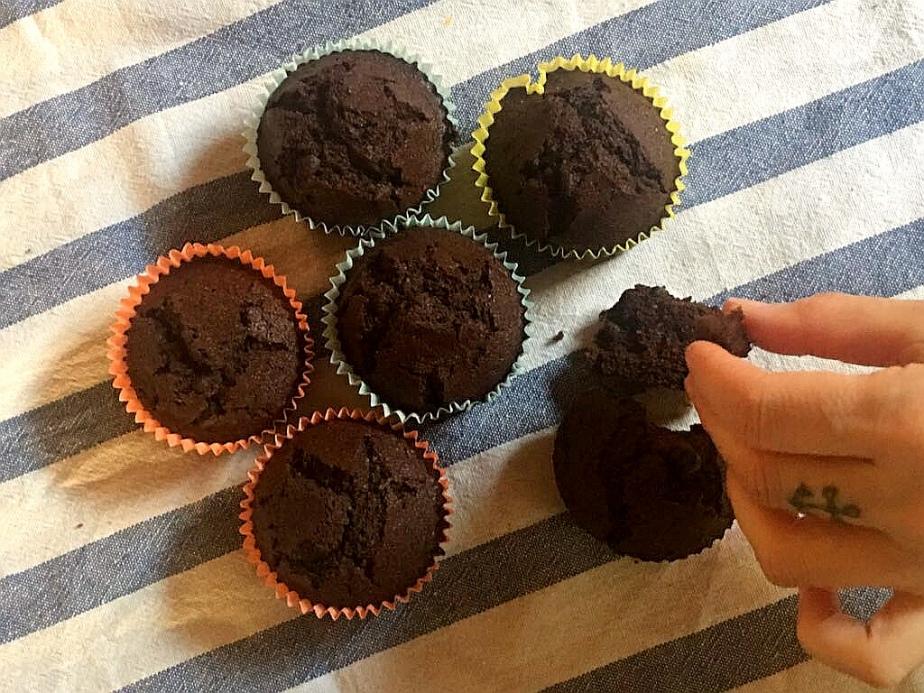Muffin gluten free al doppiocioccolato
